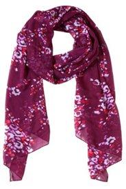 Schal mit abstrakten Blütenmuster allover, 180 x 50 cm