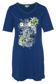 Nachthemd mit schönem Blütenmotiv, leicht fließender Stoff