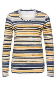 Shirt in Stretch-Komfort Qualität mit modernen Streifenmustern