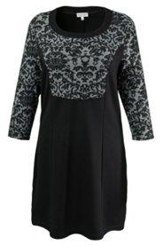 Kleid mit Blütenmuster, hochwertige Jacquard-Verarbeitung