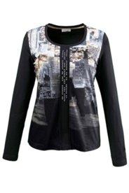 Shirt, Skyline-Druck und Einsatz mit Glitzersteinen