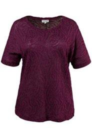 Shirt, gemusterter Jacquardjersey, überschnittene Schultern