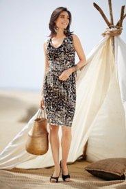 Gina Laura Kleid, ärmellos, Wasserfallausschnitt