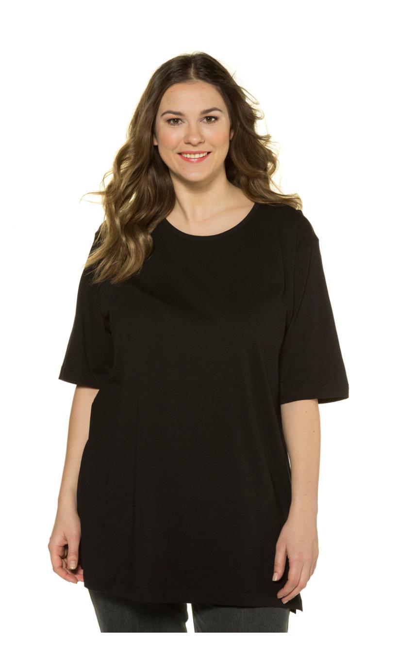 Ulla Popken T-shirt, relaxed, zijsplitten - Grote Maten