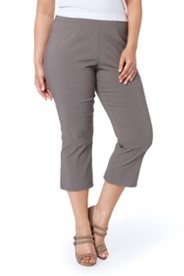 """Ulla Popken Stretch Basic Capri Pants plus size,  plus size fashion plus size appare"