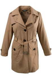 "Ulla Popken Classic Belted Trench Coat"" plus size,  plus size fashion plus size appare"