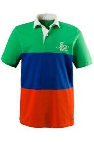 Ulla Popken Poloshirt, Piquéjersey, breite Streifen, Twill-Kragen, große Größen - Große Größen