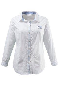 Bluse mit schönen Karodetails, 100 % Baumwolle