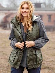 "Ulla Popken Mixed Fabric Parka"" plus size,  plus size fashion plus size appare"