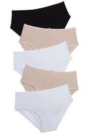 "Ulla Popken Versatile 5 Pack of Panties"" plus size,  plus size fashion plus size appare"