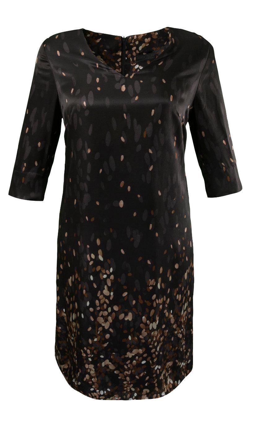 Ulla Popken zijden jurk donkergrijs