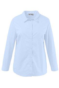 Bluse, Hemdkragen, bügelfrei, Elasthan