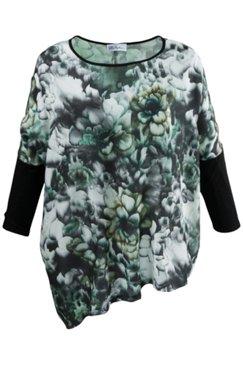 Shirtbluse, asymmetrischer Saum, oversized