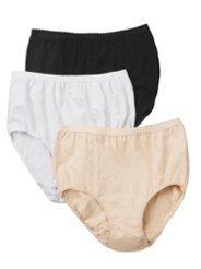 "Ulla Popken 3 Pack - Ulla-la! Cotton Stretch Panties"" plus size,  plus size fashion plus size appare"