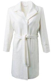 Mantel, leicht Tailliert, Reversekragen, Bindegürtel - Große Größen