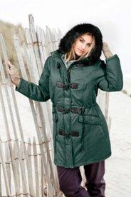 "Ulla Popken Toggle Faux Fur Trim Hood Parka"" plus size,  plus size fashion plus size appare"