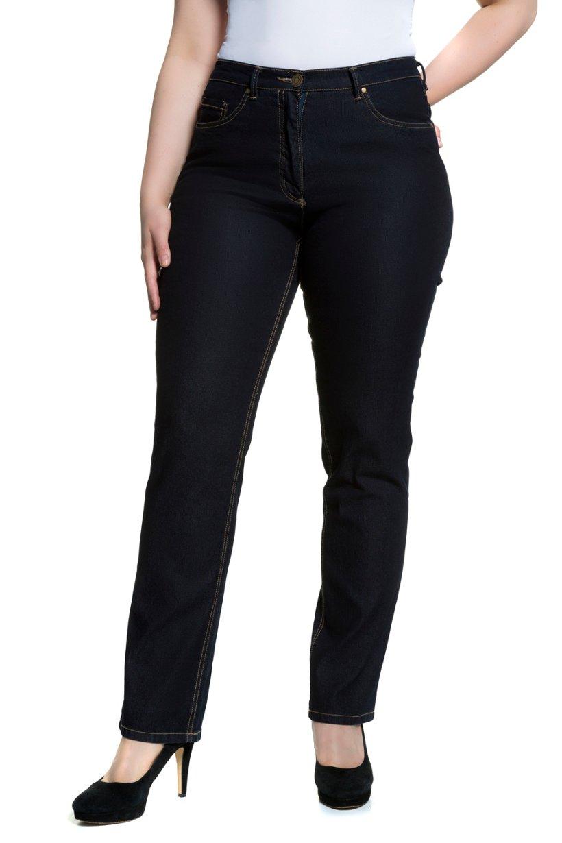 Ulla Popken Jeans Mandy, gerades Bein, Stretchkomfort - Große Größen