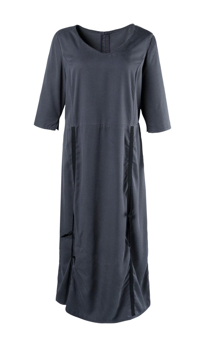 Ulla Popken jurk grijsblauw