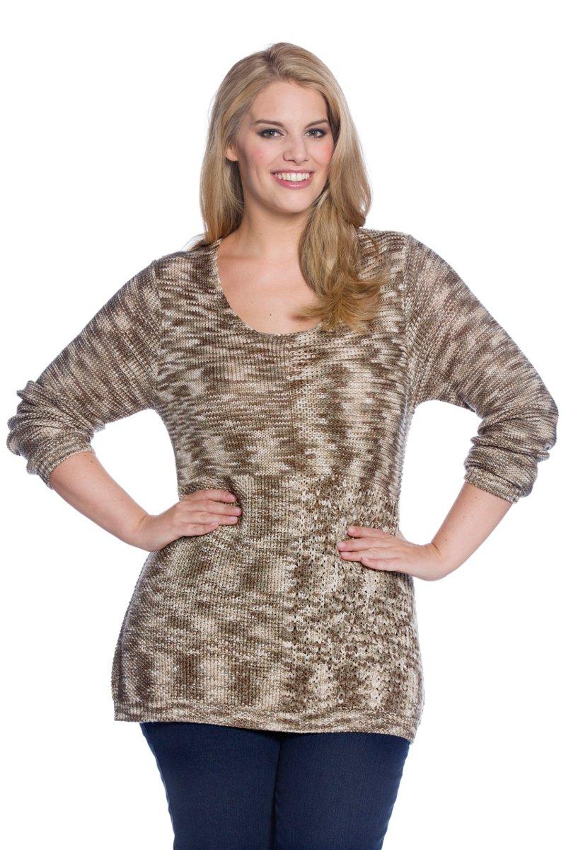 Pullover, Strickmuster, weite Schultern - Große Größen
