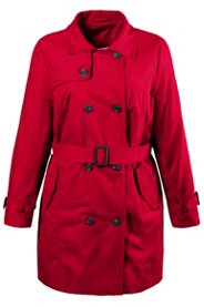 """Ulla Popken Classic Belted Trench Coat"""" plus size,  plus size fashion plus size appare"""