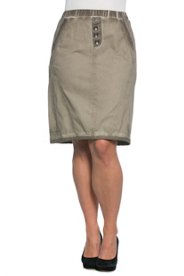 "Ulla Popken Cold Dye Pull-On Skirt"" plus size,  plus size fashion plus size appare"