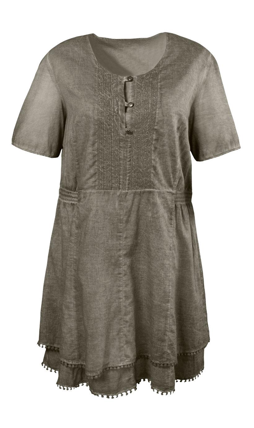 Ulla Popken jurk taupe