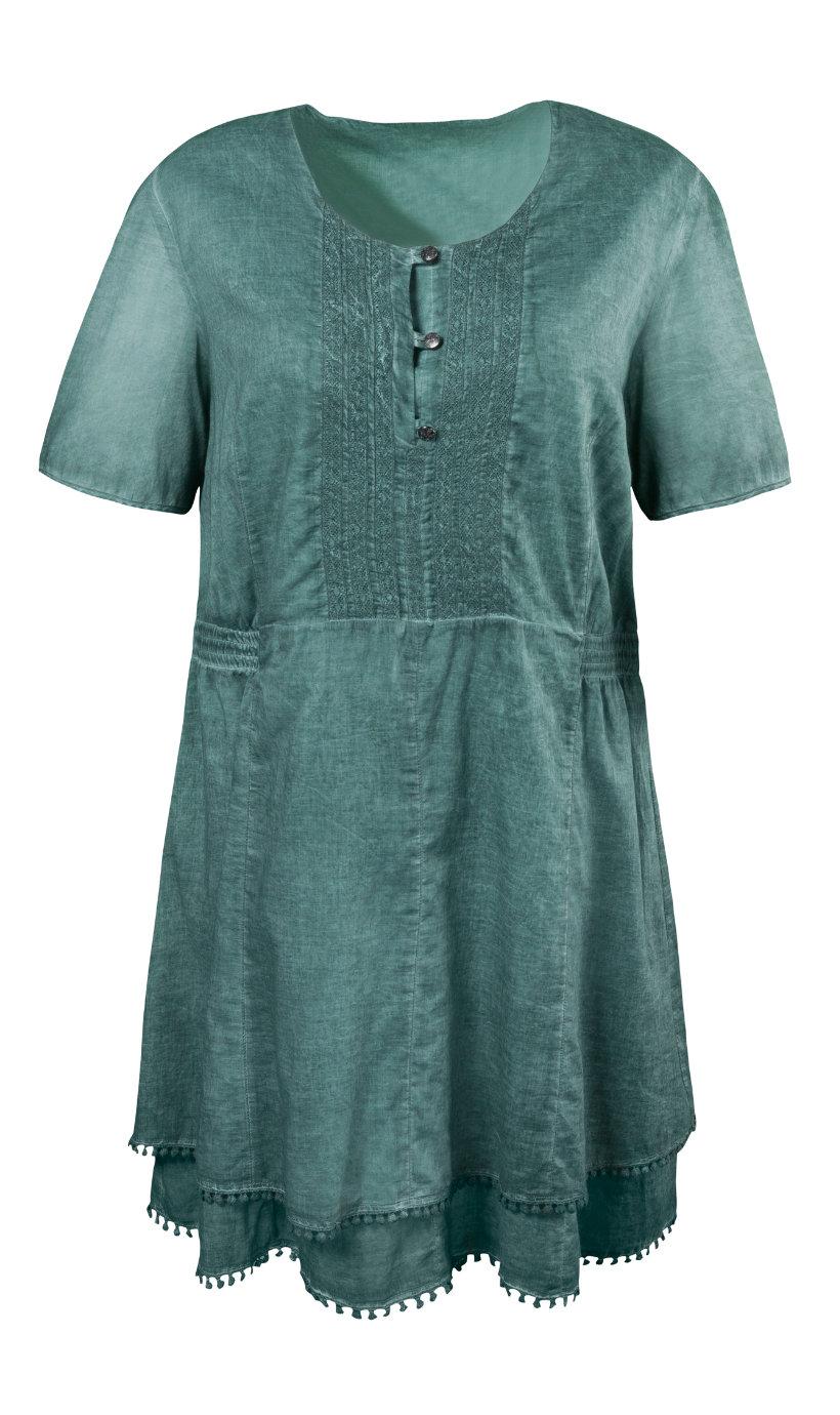 Ulla Popken jurk grijsgroen