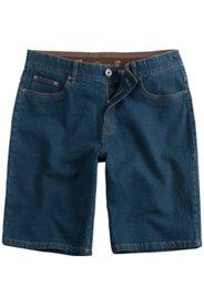 Ulla Popken Jeans-Bermuda, elastischer Komfortbund, Regular Fit, 5-Pocket - Große Größen