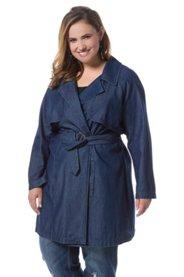 "Ulla Popken Tencel Look Trench Coat "" plus size,  plus size fashion plus size appare"