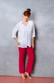 "Ulla Popken Embroidered Linen Blouse "" plus size,  plus size fashion plus size appare"