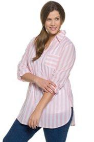 Bluse, lange Form, Seitenschlitze, Ärmel krempelbar, Hemdkragen - Große Größen Sale Angebote Kathlow