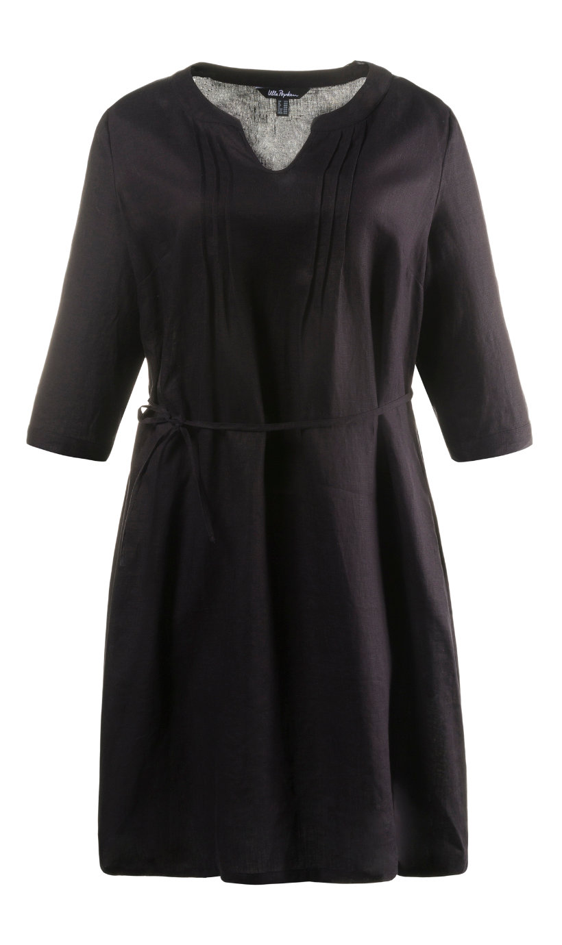 Ulla Popken linnen jurk zwart