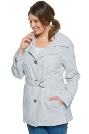 "Ulla Popken Mini Print Trench Coat"" plus size,  plus size fashion plus size appare"