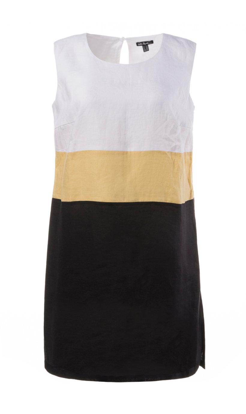 Ulla Popken linnen jurk multicolour