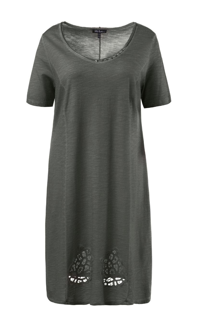 Ulla Popken jersey jurk olijfgrijs