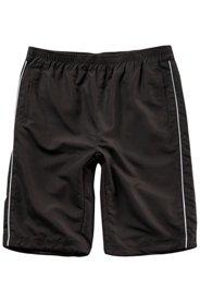Ulla Popken Bermuda, kurze Jogginghose, Seitenstreifen, elastischer Bund, 2 Pockets, Baumwollmix - Große Größen