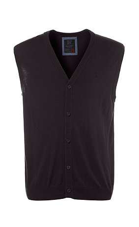 Classic Button Placket Cotton Blend Sweater Vest | 70570770