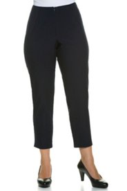 "Ulla Popken Hidden Zipper Elastic Waist Stretch Capri Pants"" plus size,  plus size fashion plus size appare"