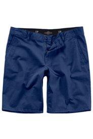 Ulla Popken Bermuda, Hose, Chino-Style, 4-Pocket, Flatfront, Baumwolle, Stretch - Große Größen