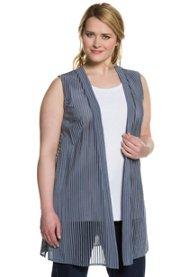 Blusenweste, transparente Streifen, offene Form - Große Größen Sale Angebote Groß Luja