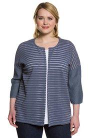 Haidemühl Angebote Shirtjacke, leicht transparente Struktur, offene Form - Große Größen