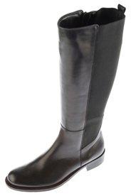 Ulla Popken Stiefel, elastische Rückseite, Leder, Weite H - Große Größen