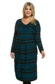 Kathlow Angebote Kleid, Jacquard-Struktur, O-Silhouette, Stretchjersey, Biobaumwolle - Große Größen