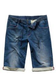 Ulla Popken Bermuda, super strech, Jeans aus Sweat, 5-Pocket, Baumwolle, Stretch - Große Größen