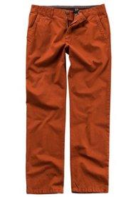Klein Döbbern Angebote Chino, Hose, Pima-Baumwolle, Flatfront, 4-Pocket, elastischer Komfortbund, Regular Fit, normale Leibhöhe, Baumwolle, Stretch - Große Größen