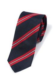 Ulla Popken Krawatte, reine Seide, Streifenmuster, normallang - Große Größen
