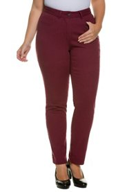 Ulla Popken Skinnyhose, Trendfarbe, 5-Pocket-Form, Stretch-Twill - Große Größen