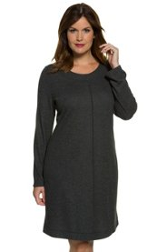 "Ulla Popken Casual Relaxed Decorative Seam Round Neck Lounge Dress"" plus size,  plus size fashion plus size appare"