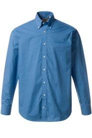 Ulla Popken Hemd, gepunktet, Buttondown-Kragen, Brust-Pocket, Comfort Fit, Baumwolle, große Größen - Große Größen