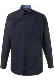 Ulla Popken Streifen-Hemd, Denim-Look, Buttondown-Kragen, Comfort Fit, große Größen - Große Größen